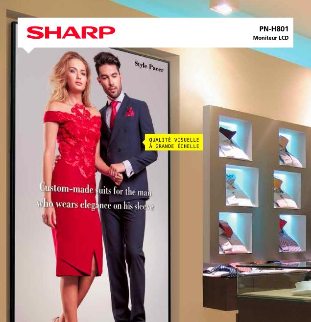 Affichage dynamique Ecran Sharp