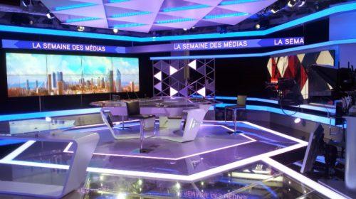 mur d'image plateau télé par CACV
