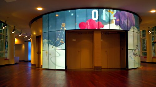 mur d'image club MED par CACV
