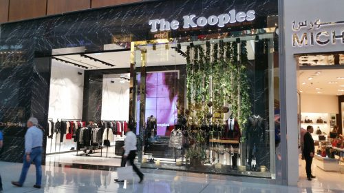 mur d'images par CACV pour The Kooples