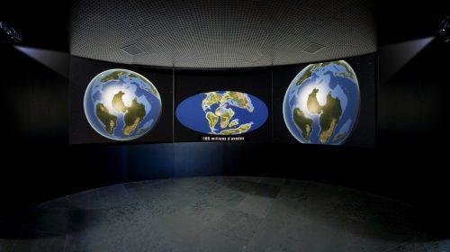 museographie mur d'image par CACV